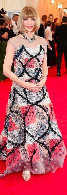 Met Gala 2014: Anna Wintour in Chanel Couture