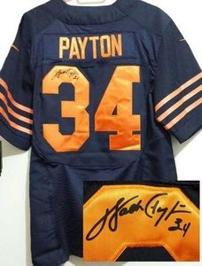 236ba940b78 ... sweden nike bears 34 walter payton navy blue alternate mens stitched  nfl elite autographed jersey 55556