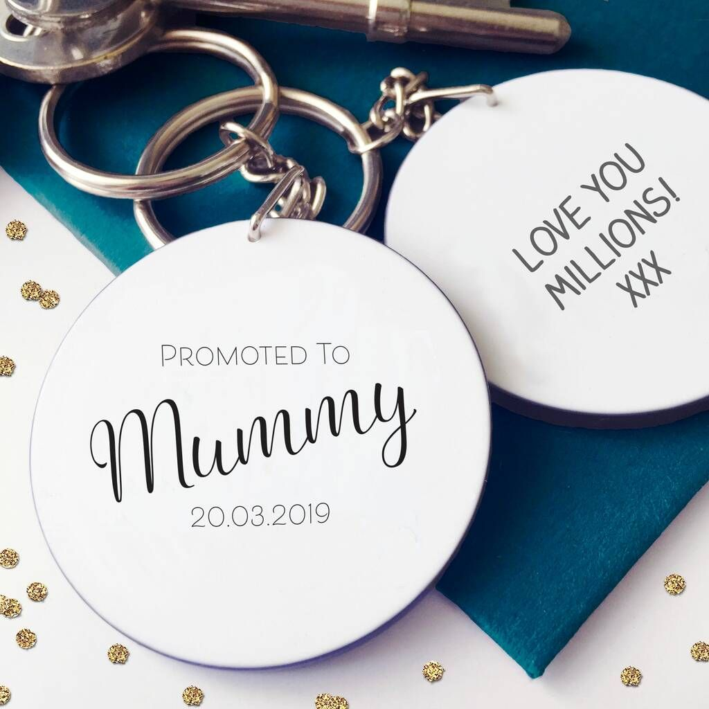 Promoted To Mum / Mummy Personalised Keyring
