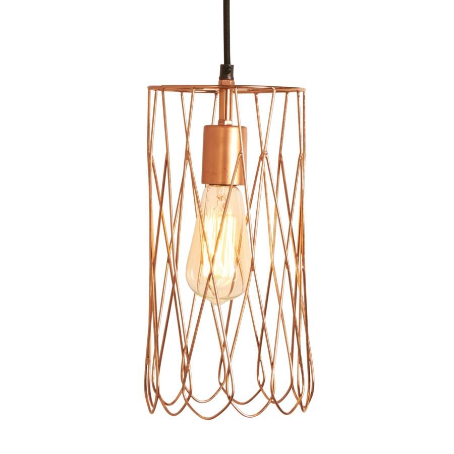 Mayfair Long Petal Pendant In Copper Lighting Selamat Designs
