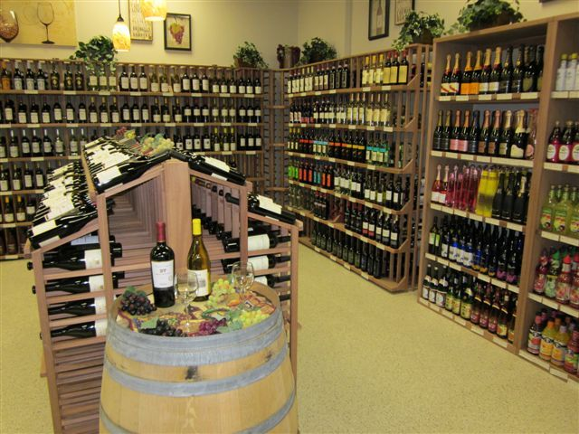 WineRacks.com's mahogany racks in Southern Wine & Spirits. Visit our website for more info