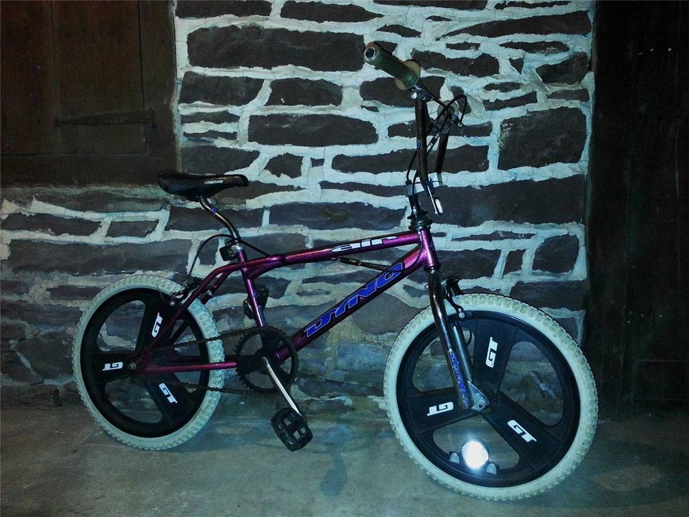 90s Old School GT DYNO AIR Freestyle BMX Bike Splattered