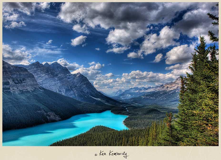 Peyto Lake in Banff National Park, Alberta, Canada--Photographed by Ken Kaminesky