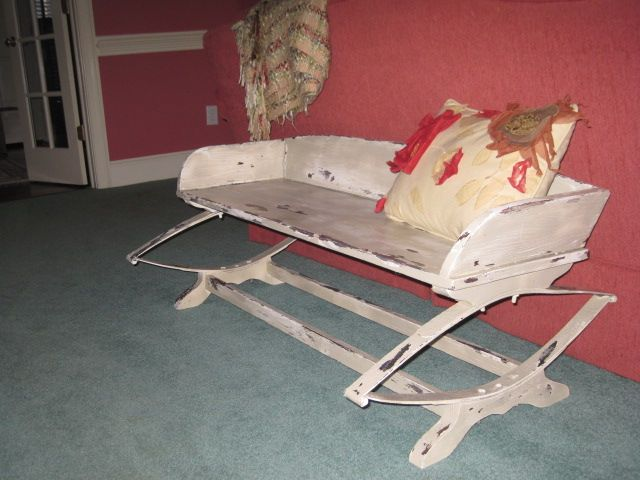 Old Wagon Seat After Been Distressed Decorating Ideas