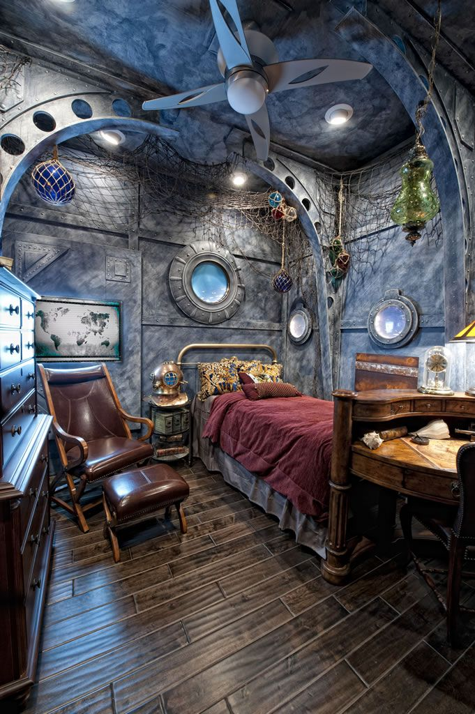 The Engine Room Design: Steampunk Bedroom Decor, Steampunk Home