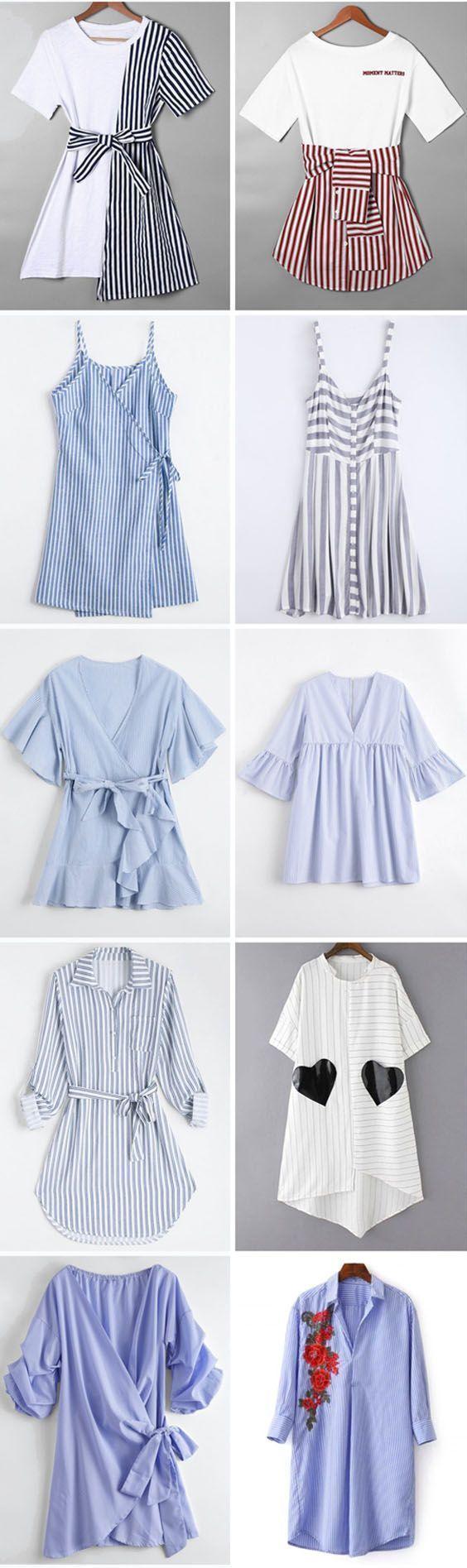 Zafuldressstriped dresssummerwomen fashionfall outfitswedding