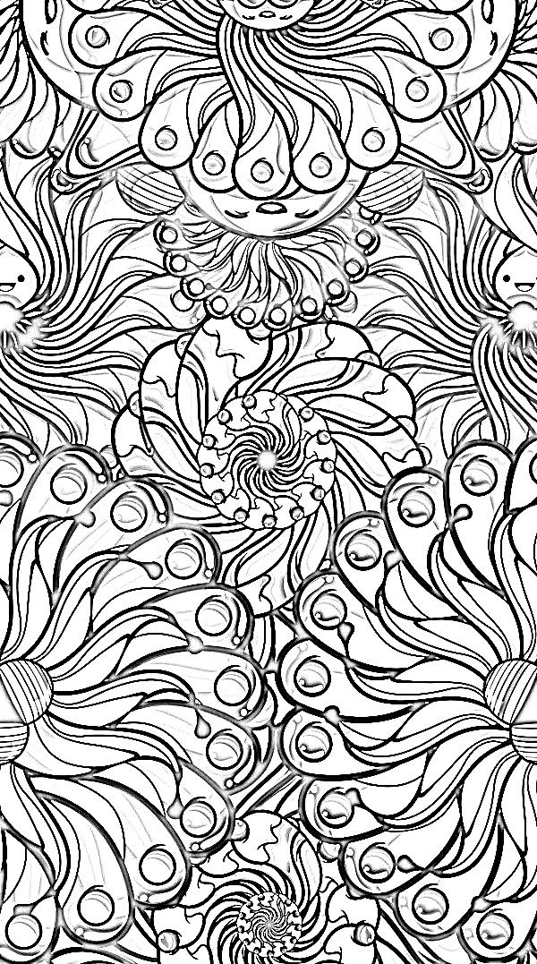 triptastic coloring pages | Color it Yourself! Art psychedelic ☮ | doodling ...
