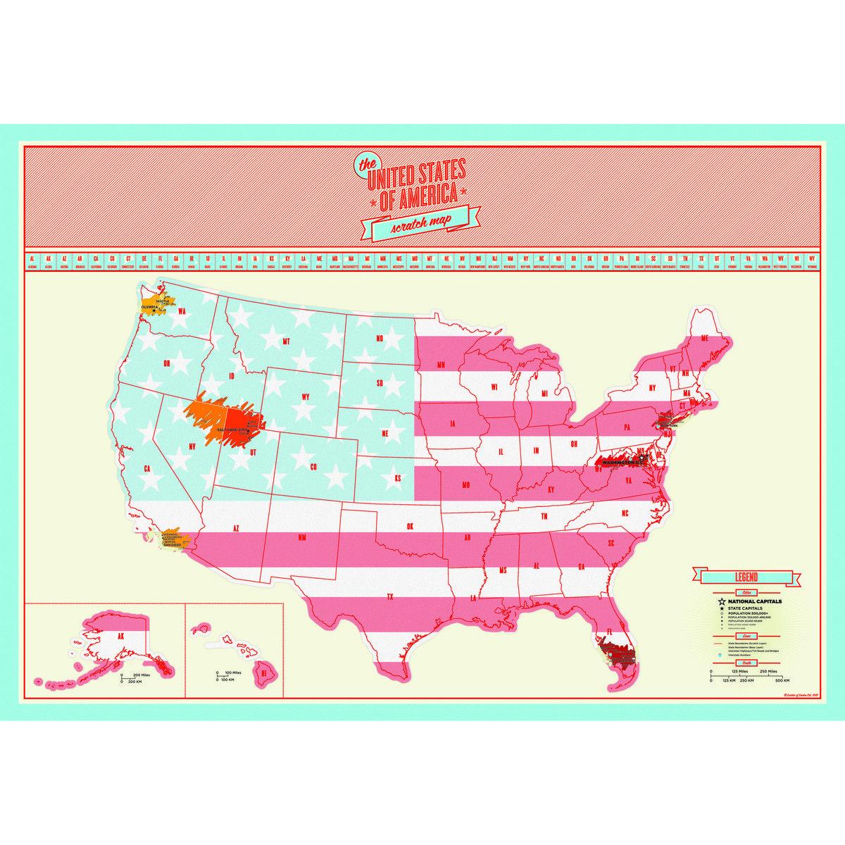 US Scratch Map