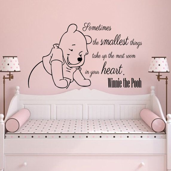 Classic Winnie The Pooh Wall Decals Quotes Sometimes The Etsy Baby Room Wall Baby Room Wall Art Wall Decals For Bedroom