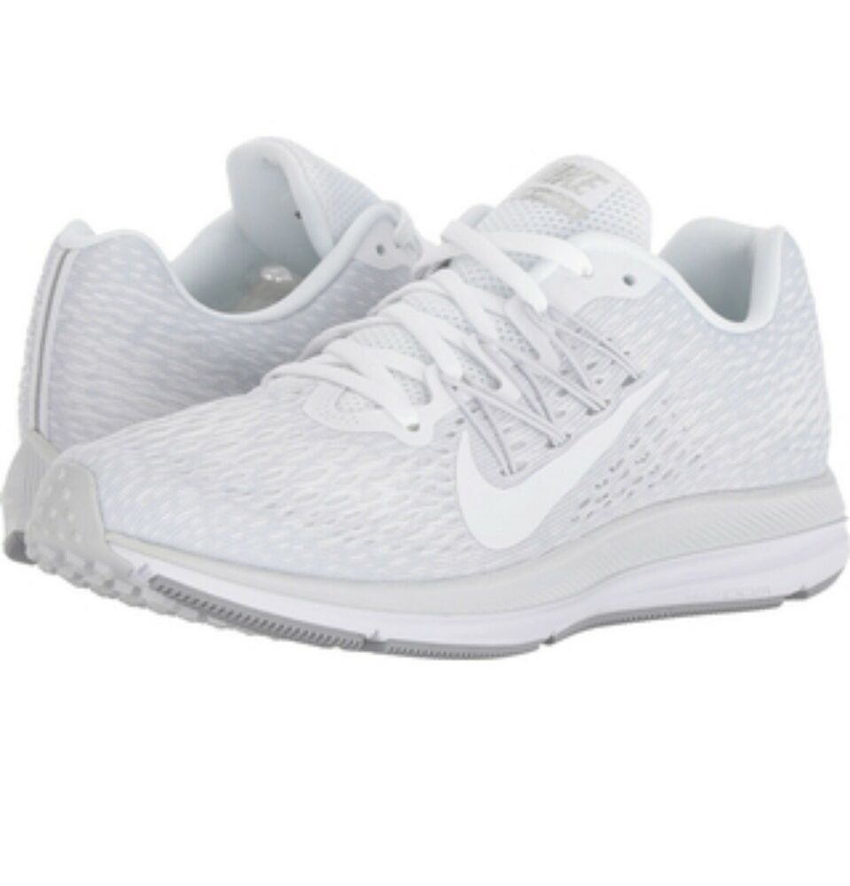 huge discount 1a864 bb864 NEW Nike Womens Air Zoom Winflo 5 Running Shoes 8.5M White - Nike Airs (