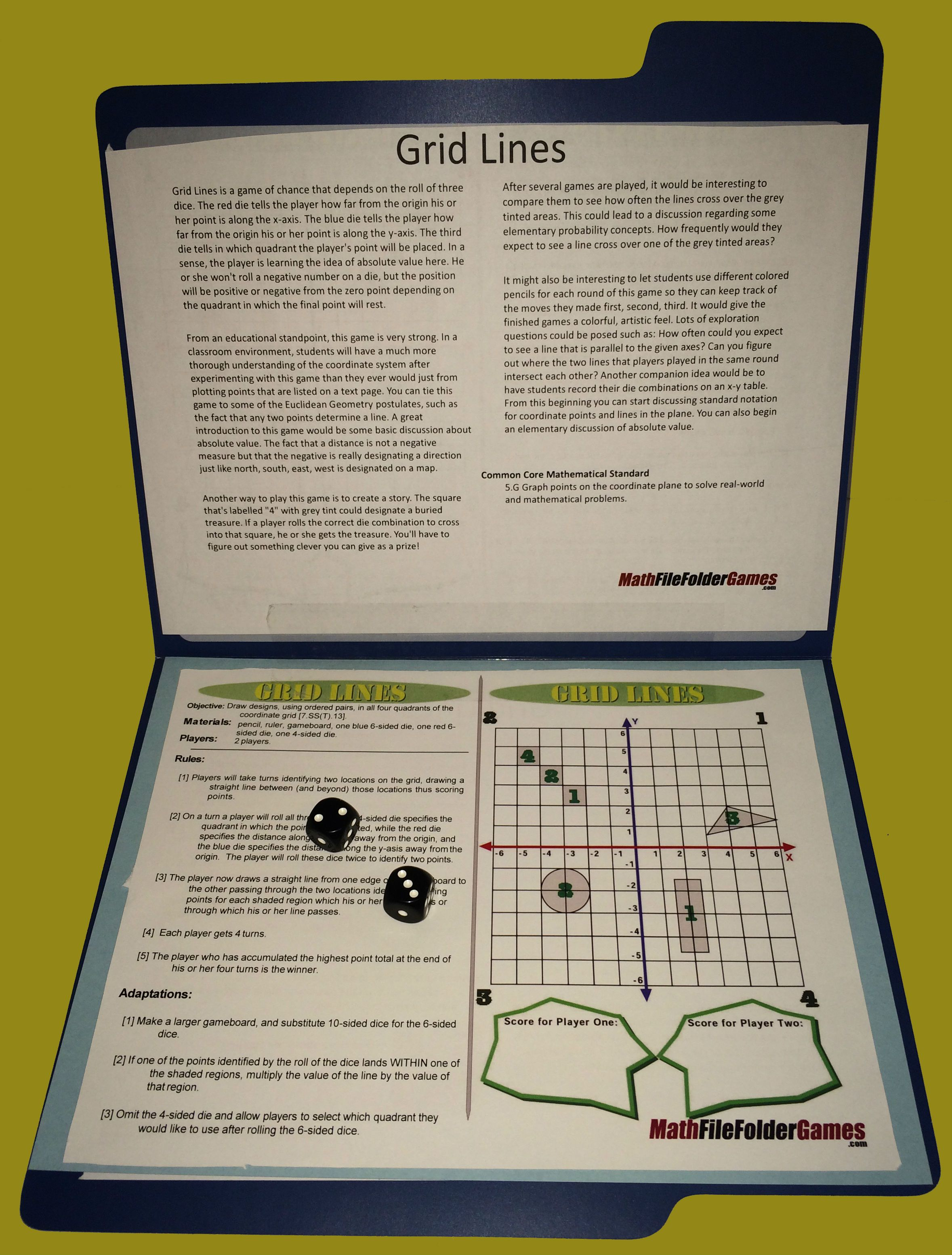 Printable Math Games | Printable math games, File folder games and ...