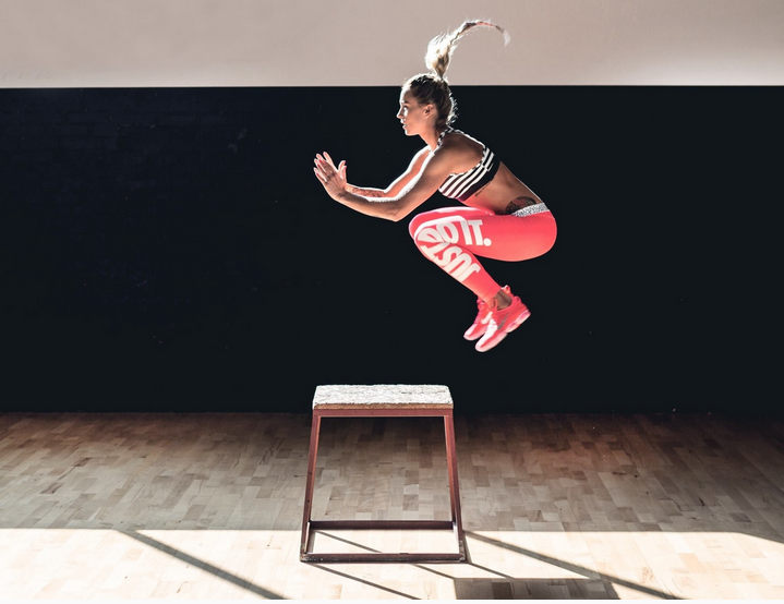 boxjumps: hamstrings, explosive power, what's not to love? <3