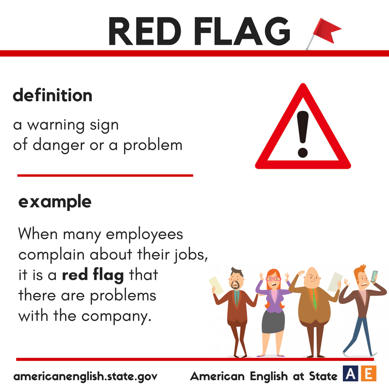 Vocabulary Red Flag Learn English English Words Idioms And Phrases