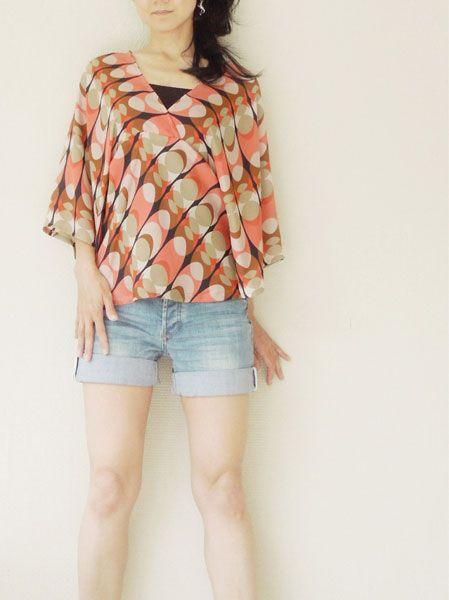 Digital warabi kimono sleeve tunic sewing pattern   Pinterest