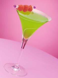 3/4 oz Midori and 2 oz. citrus vodka, splash of white cranberry juice (or some sour mix instead of the juice).  Midori is  a delicious melon liqueur, and the perfect color for a St. Patrick's Day drink!