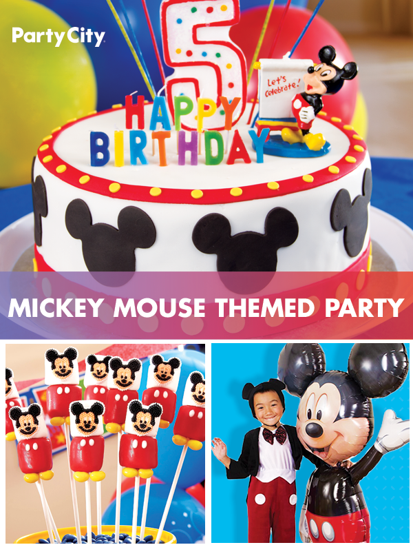Let Disney S Favorite Mouse Be The Party Mascot This Year Mickey Mouse Themed Party Supplie Mickey Mouse Parties Mickey Birthday Party Thomas Birthday Parties