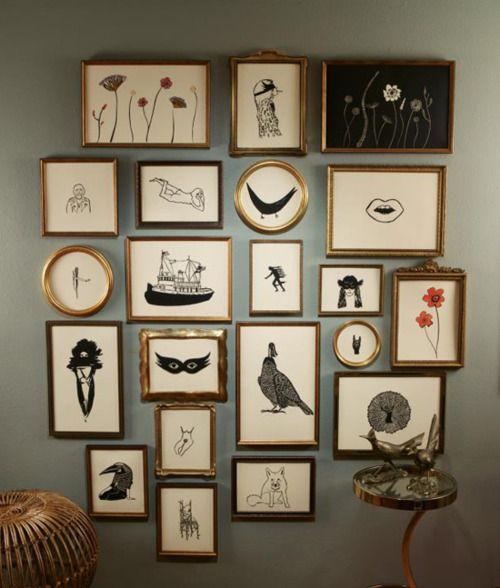 Gallery wall entradas colgar cuadros minimalismo apartamentos objetos pintar usados also home decor pinterest decoracion hogar rh ar