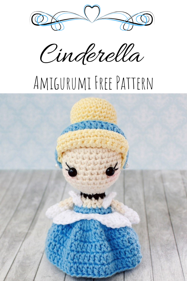 Cinderella Amigurumi (Free Pattern) #amigurumifreepattern