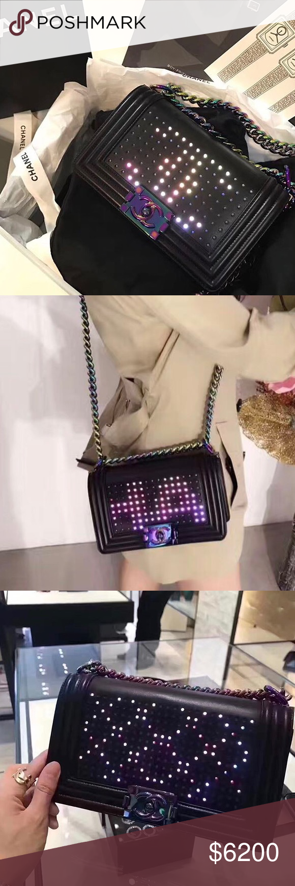 967cc88dfb67 NEW CHANEL LED BOY BAG Brand New! Just Came out and worn once. Not for me  at all but very cool bag! 100% authentic! Price is super firm!