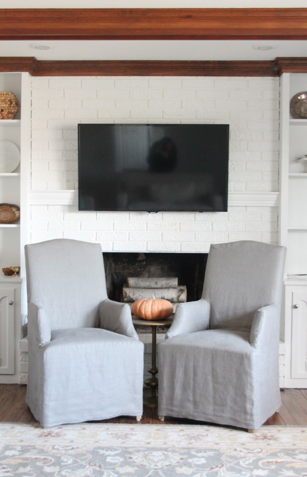 Easy & inexpensive DIY mantel to conceal tv and cable cords via www ...