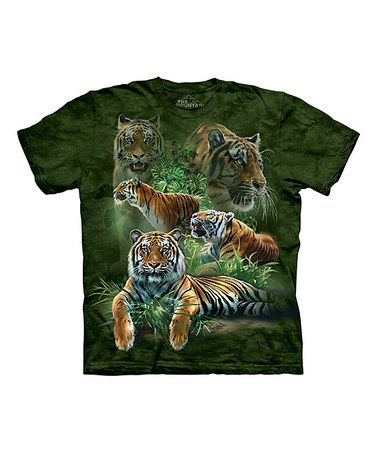 Another great find on #zulily! Green Jungle Tigers Tee - Toddler & Kids #zulilyfinds