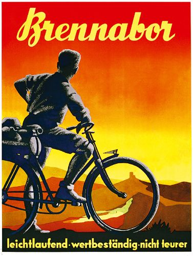 330 Brennabor Fahrrad Plakat 1938 Lot 330 Cycling Posters Bike Poster Bicycle Art