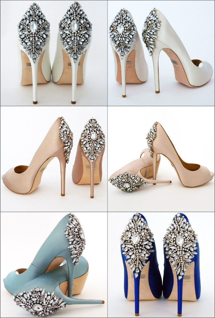 Badgley Mischka Wedding Shoes Classic Neutral Or Bold We Have You Colored Front And Ba Designer Wedding Shoes Shoes Women Heels Badgley Mischka Shoes Wedding