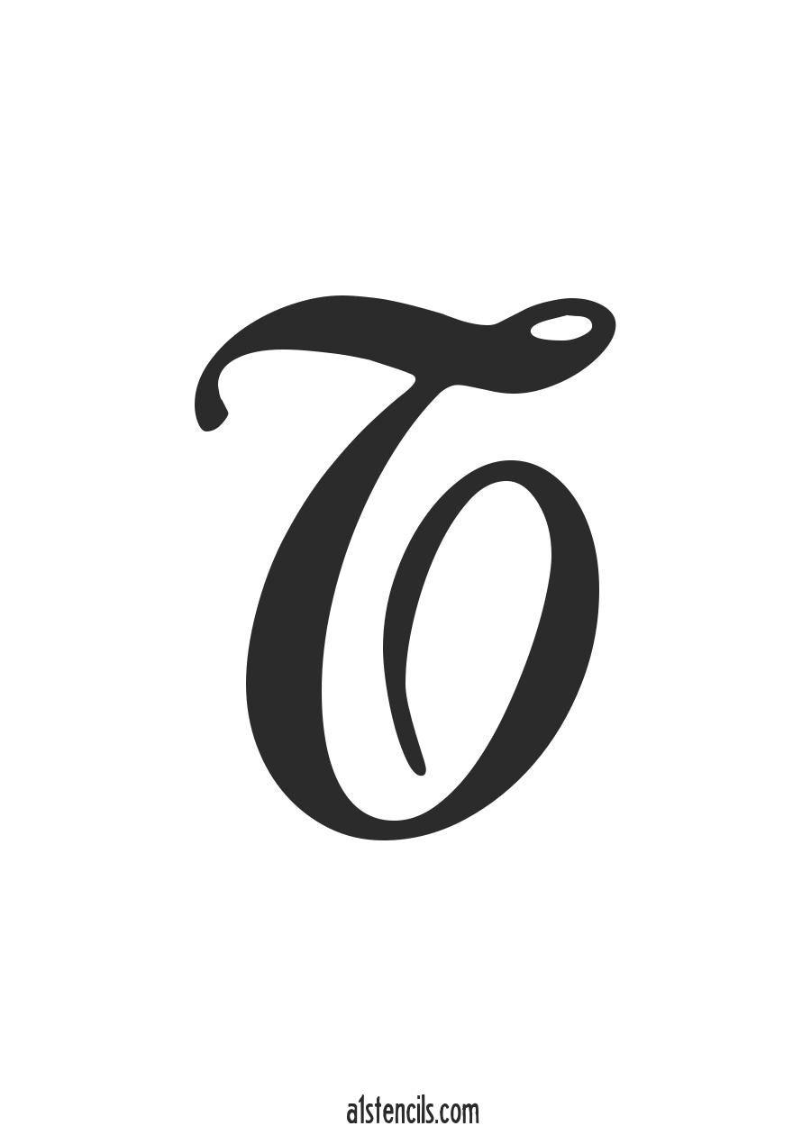 PDF Stencil Letter Handwritten Cursive T | Photography | Cursive ...