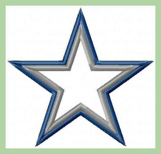 dallas cowboys star applique