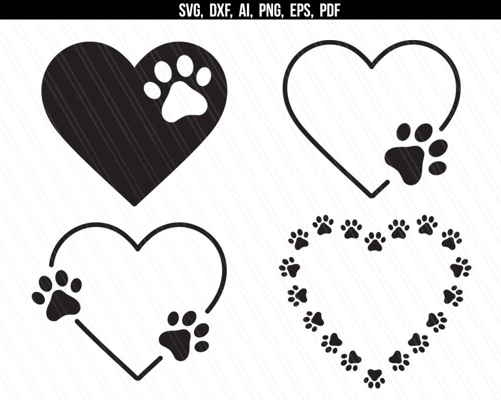 845+ Love Paw Print Svg Free for Silhouette