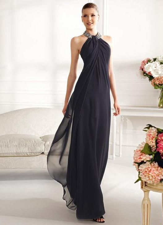 153208bf5bf Черное вечернее платье в греческом стиле
