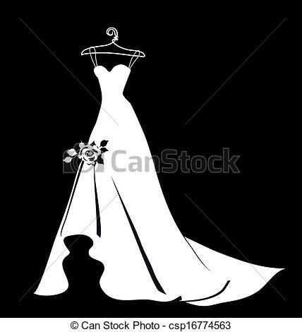 bridal dress clipart - Google Search | Painting Ideas | Pinterest ...