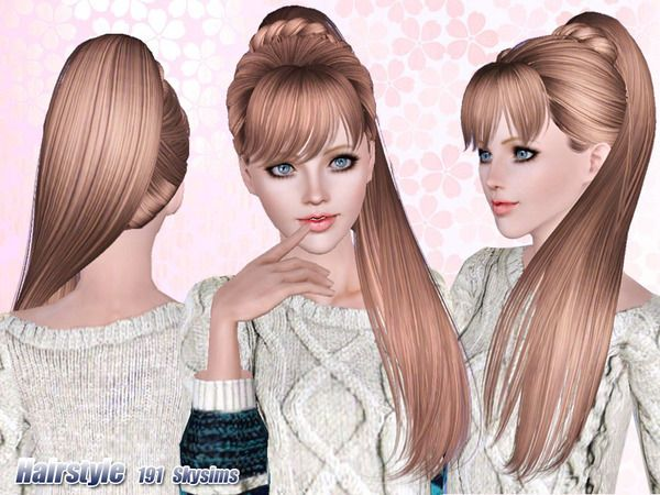 Side Ponytail Hair 191 By Skysims Sims 3 Downloads Cc Caboodle