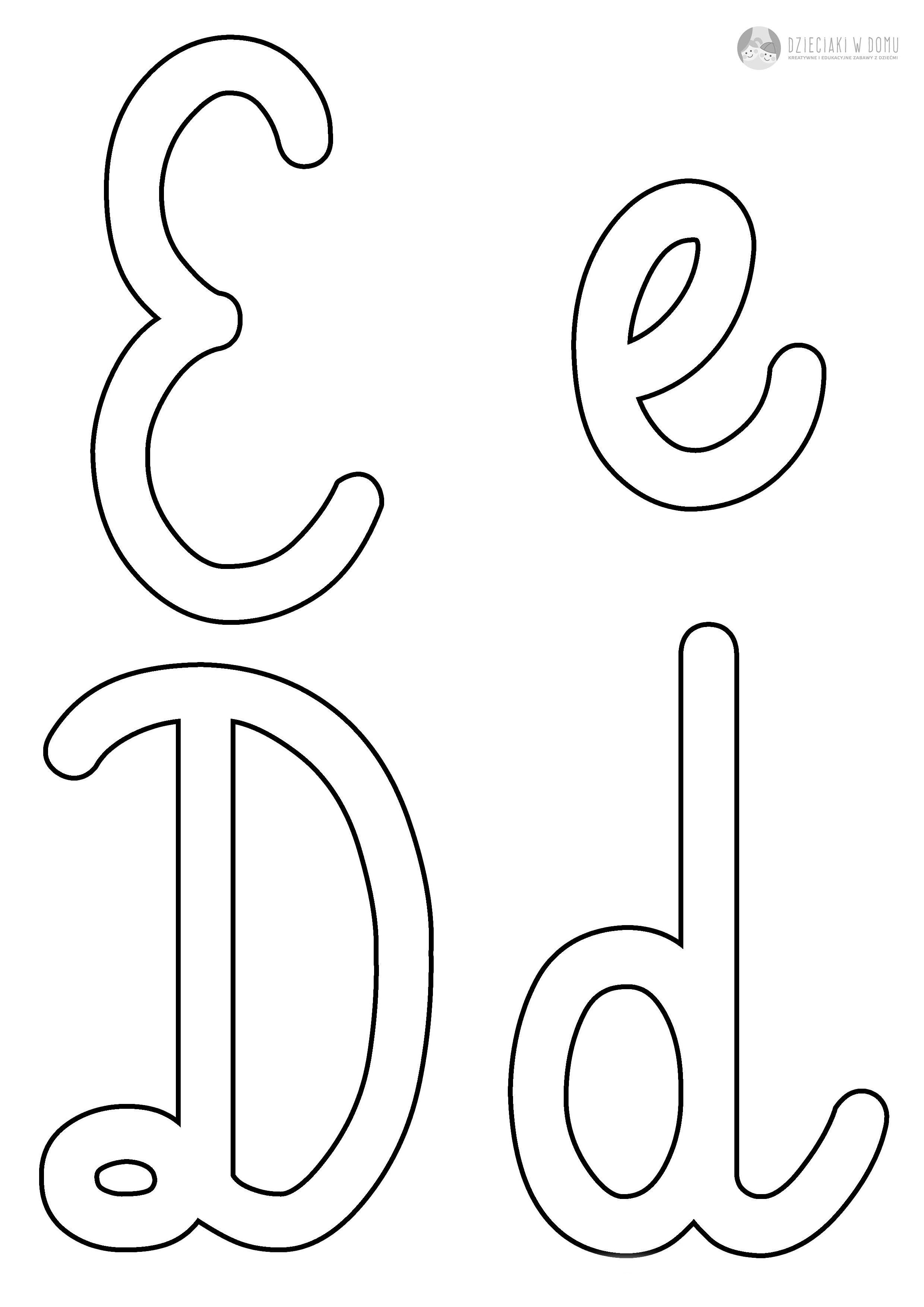 Szablony Liter Do Szorstkich Literek Diy Crafts Letters Montessori