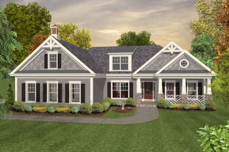 Colonial Style House Plan 3 Beds 2 5 Baths 1800 Sq Ft Plan 56 590 Craftsman House Plans Ranch House Plans Craftsman Style House Plans