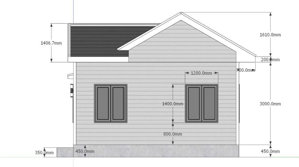 Tiny House Plans 7x6 With One Bedroom Cross Gable Roof Tiny House Plans Tiny House Plans House Plans Gable Roof House