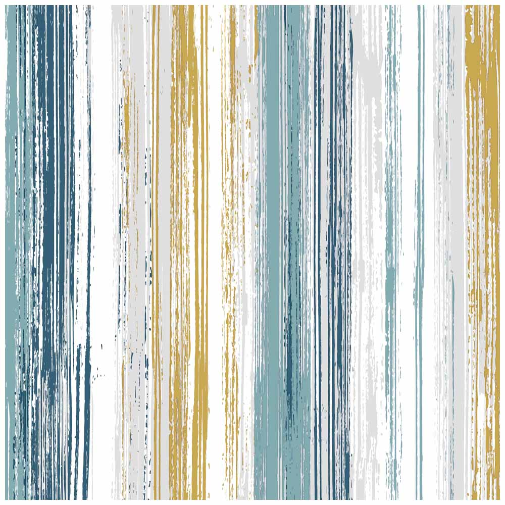Wallpaper Stripe Teal and Yellow in 2020 Yellow kitchen