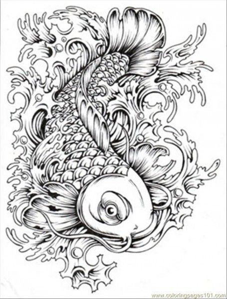 Adult Coloring - fish | Adult Colouring | Pinterest | Adult coloring ...