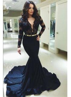 abendkleid lang spitze schwarz  abendkleider mit Ärmel onlineabiballkleiderkleider für