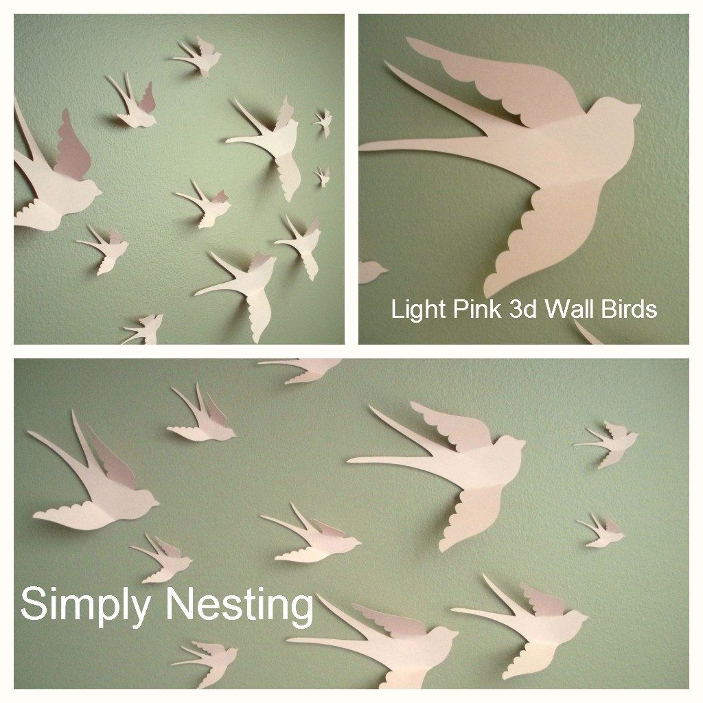 Bird Wall Decal Bird Wall Art Wall Art For Nursery Wall Hanging - Diy wall decor birds