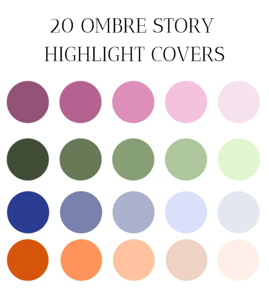 OMBRE Instagram story highlight icon covers, highlight covers