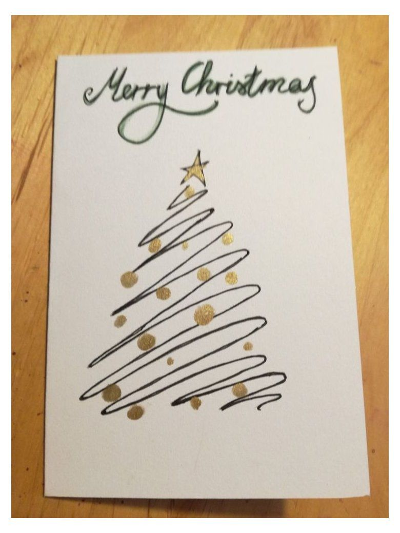 Christmas Card Fir Tree Watercolor Weihnachtsgrusse Mit Lettering Card Christ In 2020 Watercolor Christmas Cards Christmas Cards Handmade Christmas Card Crafts