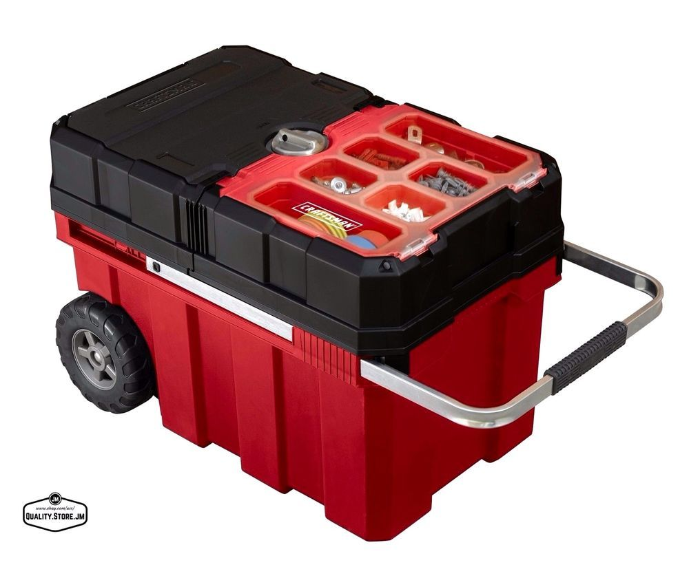 Tool Box With Wheels Mobile Rolling Chest Organizer Portable Parts Storage New Craftsman Craftsman Tools Chest Craftsman Tools Portable Tool Box