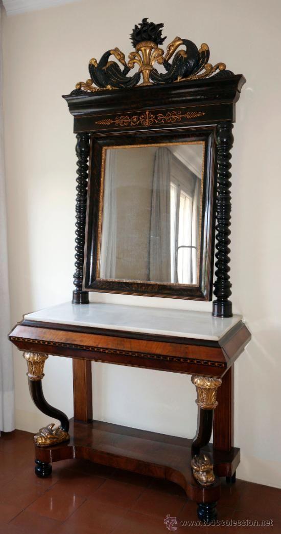 Venta de espejos antiguos great free design espejos for Consolas antiguas muebles