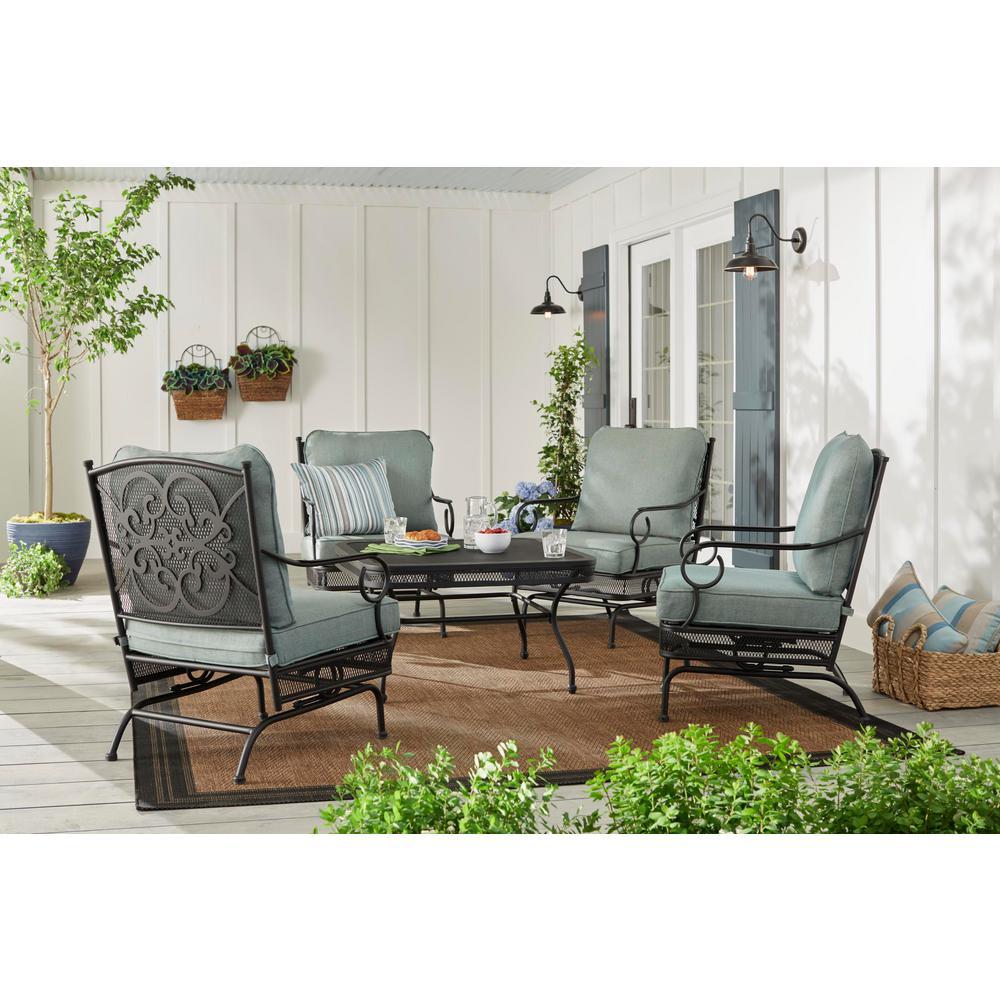 Hampton Bay Amelia Springs 5 Piece Patio Conversation Set With Spa