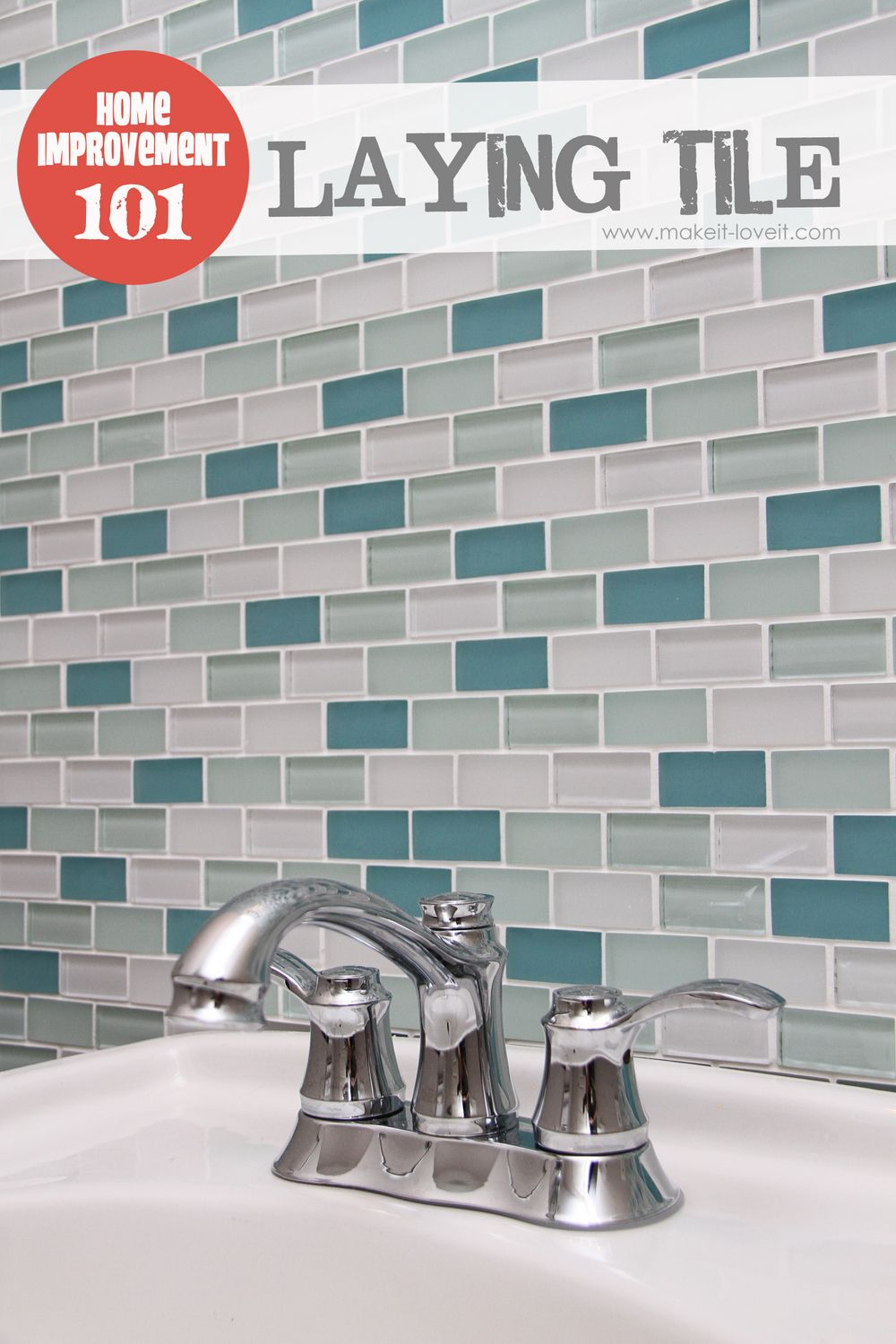 Love The Tile! Home Improvement: Laying Tile (on A Fireplace, Walls, Or  Backsplash)