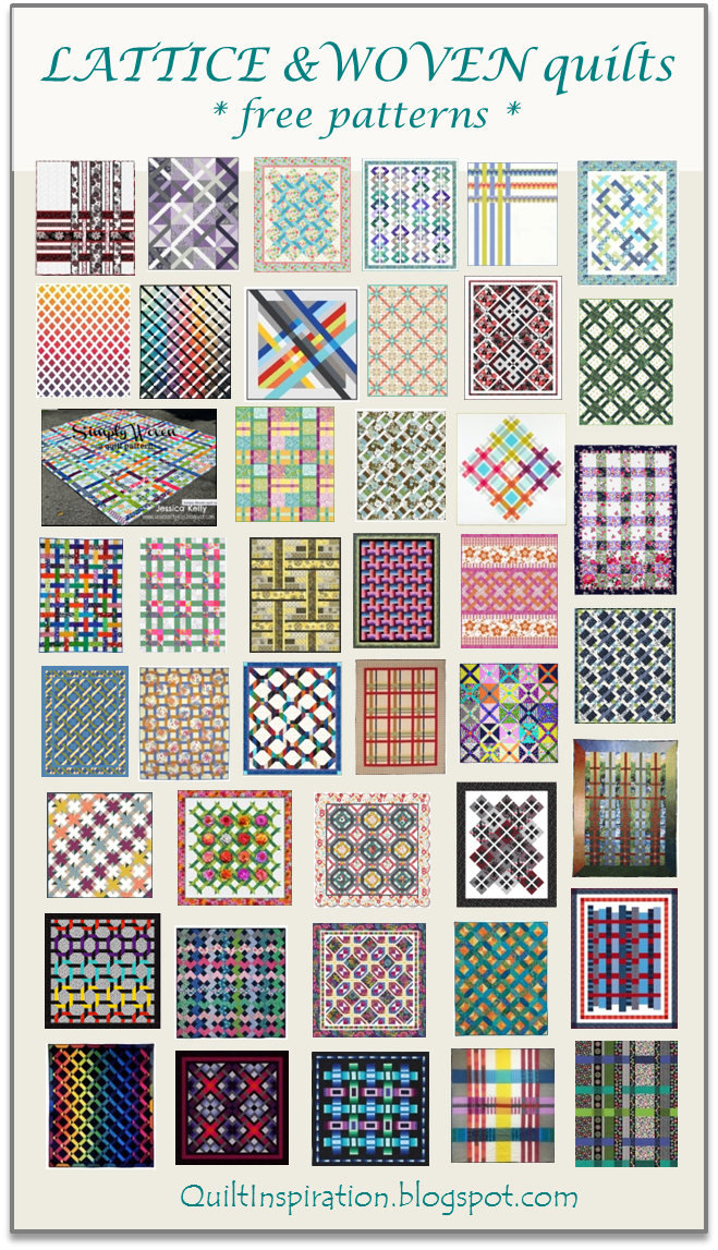 Here Are 50 Free Patterns For Lattice Quilts Basket Weave Interlocking Rings And Plaid Designs Lattice Quilts Are Mad Lattice Quilt Quilt Patterns Diy Quilt