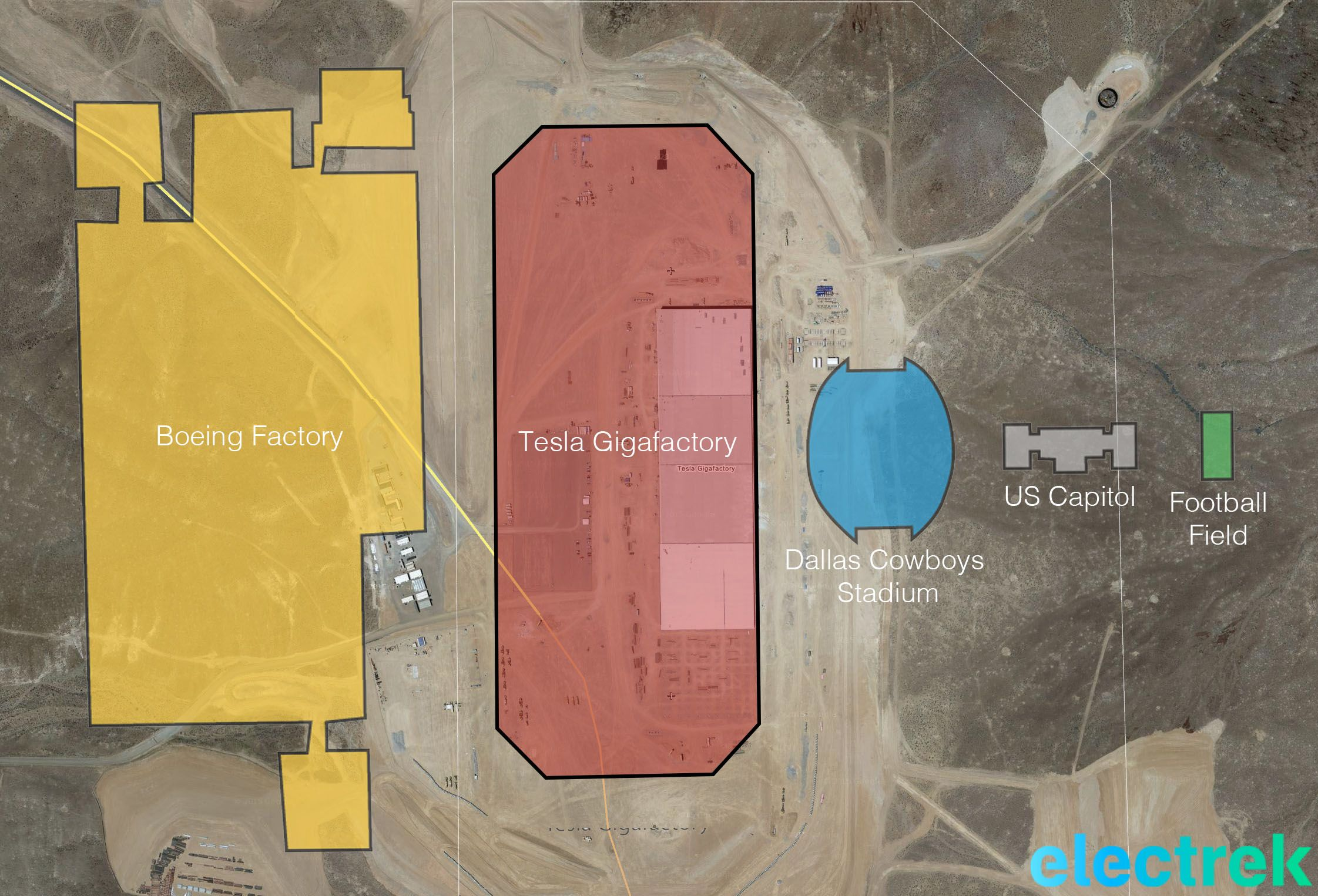 Tesla Gigafactory Shown Progressing, But Still A Fraction Of Its
