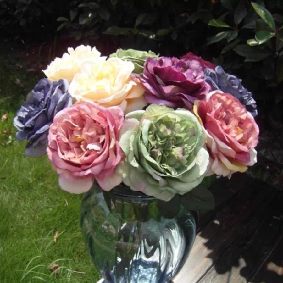 Artificial silk rose flower bridal bouquet wedding party home decor cheap craft adhesive buy quality crafts animals directly from china craft country suppliers single head artificial faux silk blooming rose floral flower izmirmasajfo