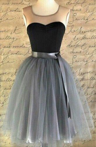 A-line dresses, Homecoming chiffon prom dress